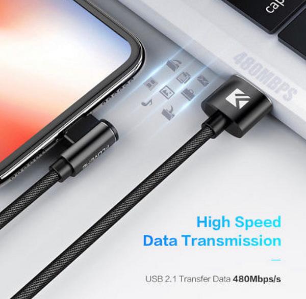 iphone lightning kabel 90 graden haaks iphone oplader. Black Bedroom Furniture Sets. Home Design Ideas